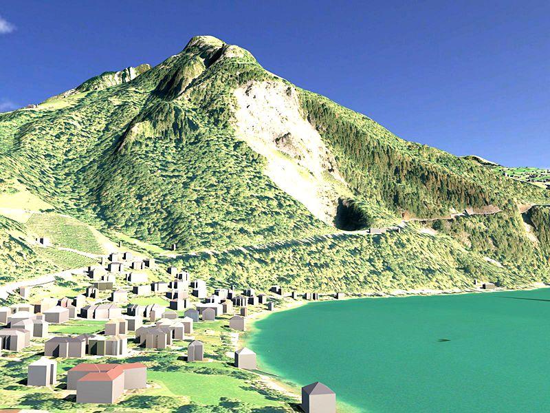Vermessung und Geomatik: 3D Landschaftsmodell