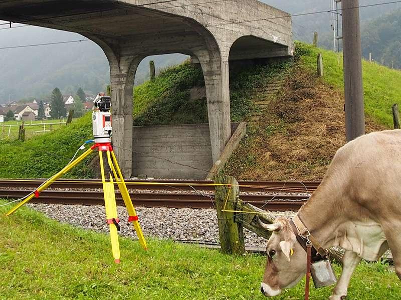 Vermessung: Brücke Outdoor mit Laserscanner für Planung und Überwachung