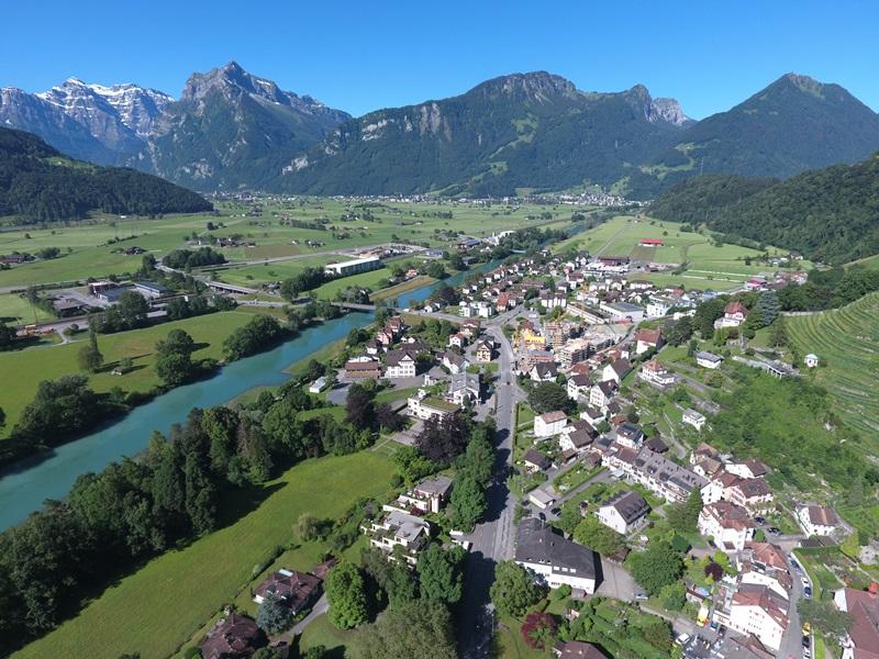 Geomatik und Vermessung: Panorama über Weesen