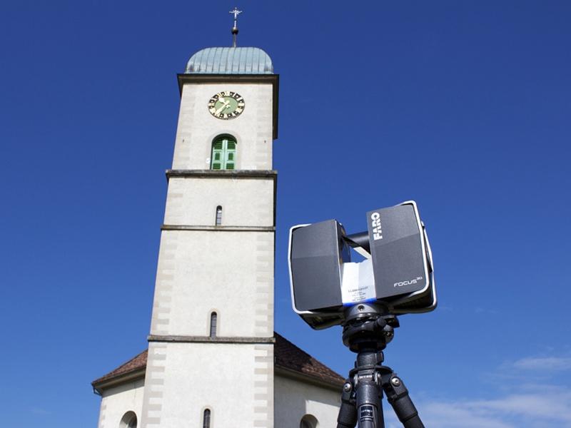 Vermessung mit Laserscanner: Bestandesaufnahme und Modellerstellung auch von grossen Gebäuden