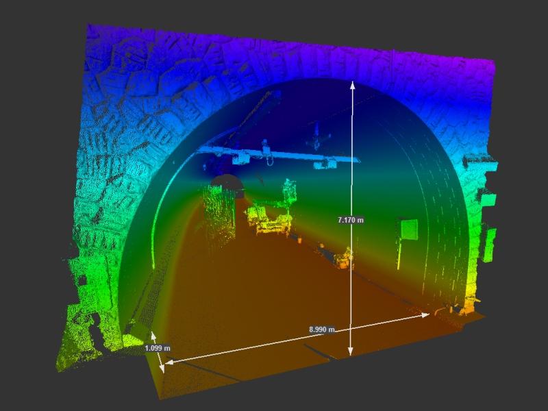 Vermesung und Geomatik: Ausführungskontrolle mittels Laserscanner im Tunnelbau