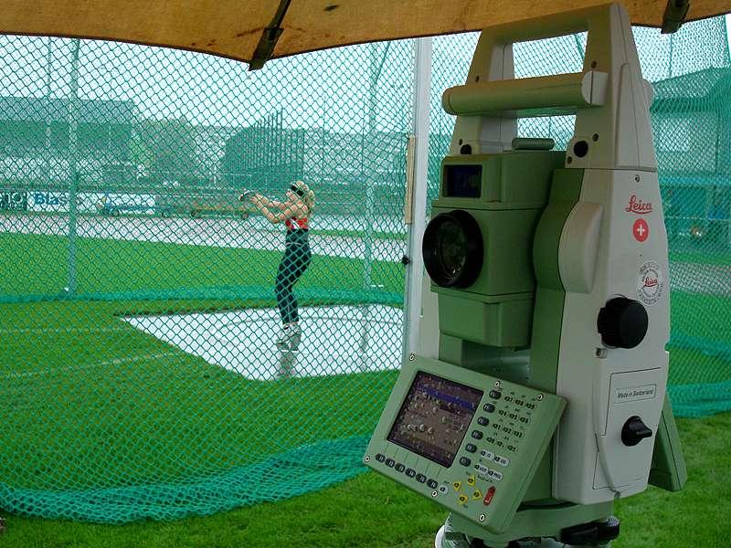 Vermessung: Schnelle und hochpräzise Distanzbestimmnung bei Weitwurfwettbewerben an Sportanlässen