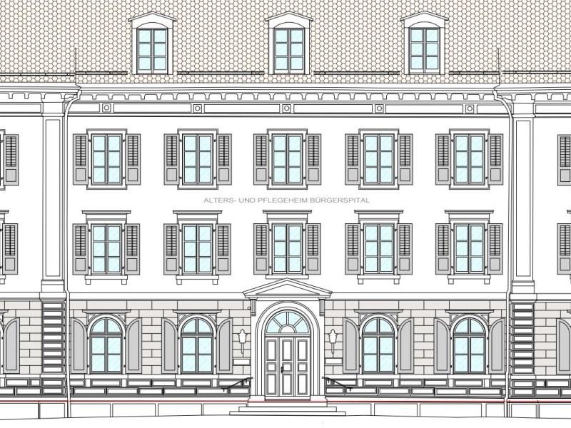 Geomatik und Vermessung: Visualiserung einer Gebäudefassade aus Laserscanaufnahmen