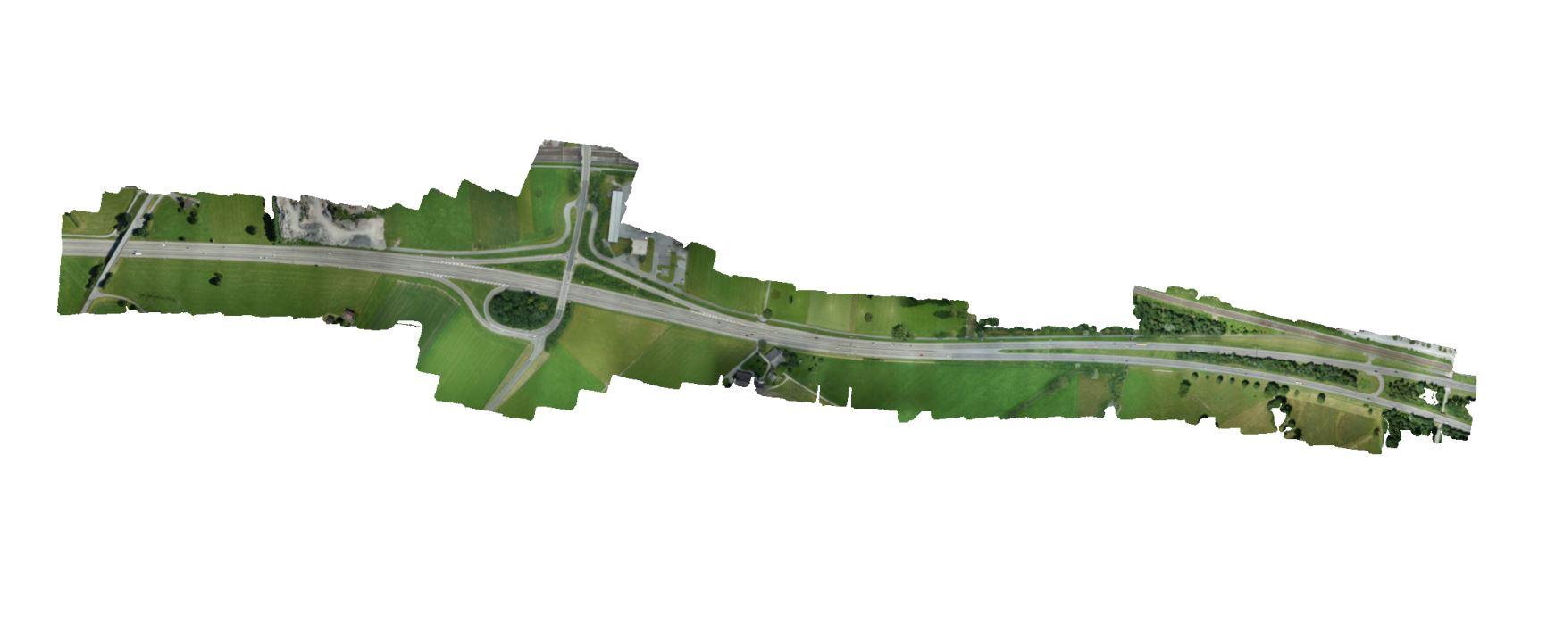 Entzerrte und georeferenzierte Luftbilder